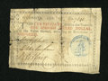 Colonial Notes:Georgia, Georgia 1776 $1 Fine....