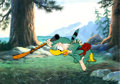 Animation Art:Production Cel, No Hunting Grandpappy Duck Production Cel Setup (WaltDisney, 1955)....