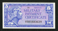 Military Payment Certificates:Series 611, Series 611 5¢ Very Choice New.. ...