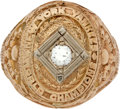 Baseball Collectibles:Others, 1947 New York Yankees World Series Championship Ring Presented toRed Corridon....
