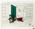 Animation Art:Production Cel, Mickey's Christmas Carol Uncle Scrooge McDuck and DonaldDuck Production Cel Setup (Walt Disney, 1983).... (Total: 4Original Art)