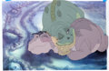 Animation Art:Production Cel, The Land Before Time Littlefoot, Spike, Ducky, and PetrieProduction Cel (Sullivan Bluth Studios, 1988)....