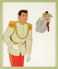Animation Art:Production Cel, Cinderella Prince Charming and Cinderella Production Cel Setup (Walt Disney, 1950).... (Total: 2 Original Art)