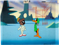 Animation Art:Production Cel, Duck Dodger and the Return to the 24 1/2 Century Daffy Duckand Marvin Martian Production Cel and Master Background Se...(Total: 3 Original Art)