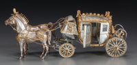 AN AMERICAN SILVER AND SILVER GILT NAPOLEONIC COACH MODEL, Designed by Fisher Body Division of General Motors Corpora