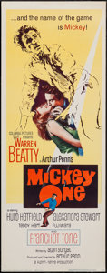 "Movie Posters:Crime, Mickey One & Other Lot (Columbia, 1965). Insert (14"" X 36"")& Half Sheet (22"" X 28""). Crime.. ... (Total: 2 Items)"