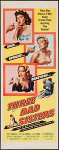 "Movie Posters:Bad Girl, Three Bad Sisters (United Artists, 1955). Insert (14"" X 36""). BadGirl.. ..."