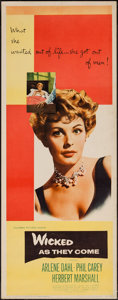 """Movie Posters:Bad Girl, Wicked as They Come (Columbia, 1956). Insert (14"""" X 36""""). BadGirl.. ..."""