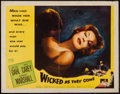 "Movie Posters:Bad Girl, Wicked as They Come (Columbia, 1956). Half Sheet (22"" X 28"") StyleA. Bad Girl.. ..."