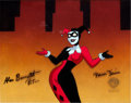 """Animation Art:Production Cel, The Adventures of Batman and Robin """"Harlequinade"""" HarleyQuinn Production Cel (Warner Brothers, 1994)...."""