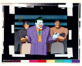 Animation Art:Production Cel, Batman: The Animated Series Joker Production Cel (WarnerBrothers, 1994)....