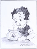 Animation Art:Production Drawing, Betty Boop Specialty Drawing by Myron Waldman (Fleischer Studios,undated).. ...