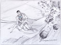Animation Art:Production Drawing, Superman Specialty Drawing by Myron Waldman (FleischerStudios, undated)....