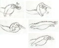 Animation Art:Production Drawing, Pete's Dragon Animation Drawing Group (Walt Disney,1977).... (Total: 5 Items)