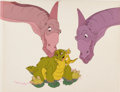 Animation Art:Production Cel, The Land Before Time Ducky and Spike Production Cel Setup(Sullivan Bluth/Amblin, 1988)....