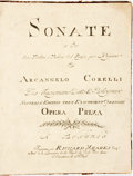 Books:Music & Sheet Music, Arcangelo Corelli. Opera Prima. XII Sonatas of three parts for two Violins and a Bass with A Through Bass for ye Organ H... (Total: 4 Items)