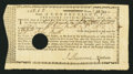 Colonial Notes:Connecticut, Connecticut Treasury Certificate £12 1s 2d February 1, 1781Anderson CT-21 Extremely Fine, HOC.. ...