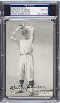 Autographs:Sports Cards, 1925 Exhibits Walter Johnson with Signed Autograph, PSA/DNA Mint 9....