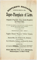 Books:Americana & American History, Trade: POPPLEIN'S SILICATED SUPER-PHOSPHATE OF LIME. [np: nd]..14pp, self-wrappers, sewn, Near Fine. ...
