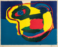 Fine Art - Work on Paper:Print, Karel Appel (Dutch, 1921-2006). Visage Jaune, 1969. Lithograph in colors on paper. 19-1/2 x 25 inches (49.5 x 63.5 cm). ...