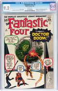 Silver Age (1956-1969):Superhero, Fantastic Four #5 (Marvel, 1962) CGC NM- 9.2 White pages....