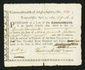 Colonial Notes:Massachusetts, Massachusetts Treasury Certificate £9 16s 4d April 1, 1785 AndersonMA-36 Fine.. ...