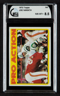 Football Cards:Singles (1970-Now), 1972 Topps Joe Namath IA #343 PSA NM-MT+ 8.5....