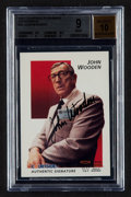 Autographs:Sports Cards, Signed 1992 Courtside Flashback John Wooden #45 BGS Mint 9, Beckett 10 Autograph. ...
