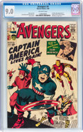 Silver Age (1956-1969):Superhero, The Avengers #4 (Marvel, 1964) CGC VF/NM 9.0 Off-white pages....