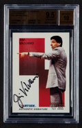 Autographs:Sports Cards, Signed 1992 Courtside Jim Valvano #40 BGS Gem Mint 9.5, Beckett 10Autograph. ...