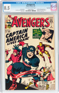 Silver Age (1956-1969):Superhero, The Avengers #4 Green River pedigree (Marvel, 1964) CGC VF+ 8.5Off-white to white pages....