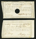 Colonial Notes:Connecticut, Connecticut Interest Payment Certificates 5s; 10s 1792; 1790 Anderson CT-50; CT-51 Very Fine or Better.. ... (Total: 2 notes)