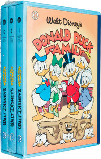 The Carl Barks Library of Walt Disney's Donald Duck Family Slipcased Book Set (Another Rainbow, 1990)