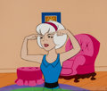 Animation Art:Production Cel, Sabrina the Teenage Witch Production Cel and ProductionBackground Animation Art (Filmation, c. 1970).. ... (Total: 2Items)