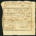 Colonial Notes:Pennsylvania, Pennsylvania Interest Bearing Certificate £37 10s August 15, 1780Anderson PA-2 Fine.. ...