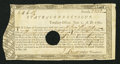 Colonial Notes:Connecticut, Connecticut Treasury Certificate £11 6s 1f June 1, 1780 AndersonCT-18 Very Fine, HOC.. ...