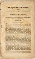Books:Americana & American History, Gardinier, Barent: SPEECH IN THE HOUSE OF REPRESENTATIVES OF THEUNITED STATES, ON FOREIGN RELATIONS, WHILE UNDER THE CONSID...