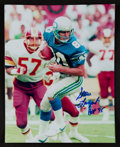 Football Collectibles:Photos, Steve Largent Signed Photograph....