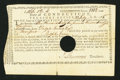 Colonial Notes:Connecticut, Connecticut Treasury Certificate £166 12s 4d July 23, 1785 AndersonCT-23 Very Fine, HOC.. ...