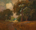 Fine Art - Painting, American:Modern  (1900 1949)  , CALIFORNIA SCHOOL (20th Century). California Oaks. Oil oncanvas laid on panel. 19-3/4 x 23-3/4 inches (50.2 x 60.3 cm)...