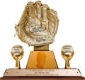 Baseball Collectibles:Others, 1972 Bob Gibson Gold Glove Award....