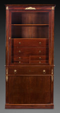 Furniture : French, A JACOB FRERES EMPIRE MAHOGANY AND GILT BRONZE SECRETARY BOOKCASE,Paris, France, circa 1800. Marks: JACOB FRERES, RUE MES...(Total: 3 Items)