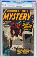 Silver Age (1956-1969):Science Fiction, Journey Into Mystery #53 (Marvel, 1959) CGC VG+ 4.5 Off-white towhite pages....