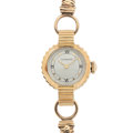 Timepieces:Wristwatch, Lady's Longines 14k Gold Unusual Lugs Wristwatch. ...