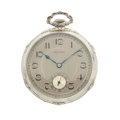 Timepieces:Pocket (post 1900), E. Howard 14k White Gold Pocket Watch. ...