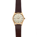 Timepieces:Wristwatch, Gent's 18k Gold Longines Automatic Wristwatch . ...