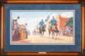 Art, Mort Künstler. Road to Glory (1997). AP22 of 100. 29x15.Accompanied by certificate of authenticity. Jackson leaves VMI,A...