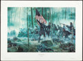 Art, Mort Künstler. Hero of Little Round Top (1991). SN 463 of 1500.27x18. Col. Joshua Chamberlain at Gettysburg, July 2, 1863...