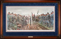 Art, Mort Künstler. Salute of Honor (2001). AP22 of 100. 34x17.Accompanied by certificate of authenticity. Gen. Joshua L. Cham...