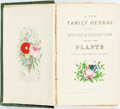 Books:Natural History Books & Prints, Richard Brook, editor. A New Family Herbal. London: W. M. Clark, [n.d., ca. 1830. Hand-colored frontispiece, title v...